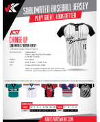 SUBLIMATED CHANGE UP BASEBALL JERSEY