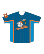 SUBLIMATED FULL BUTTON BASEBALL JERSEY